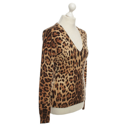 Dolce & Gabbana Cashmere sweater with animal print