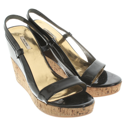 Miu Miu Patent leather wedges
