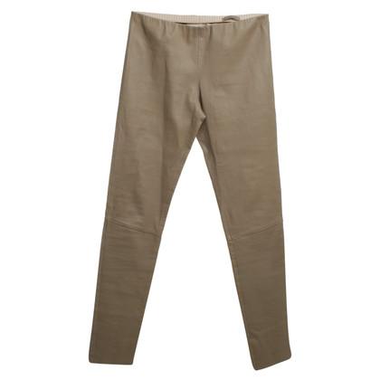 Andere merken Lapis Italia - Leather Pants in Taupe