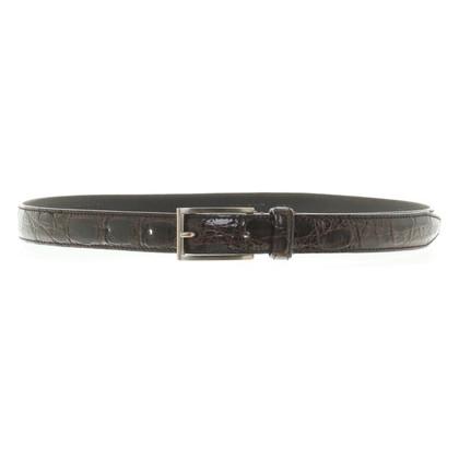Prada Belt croco brown