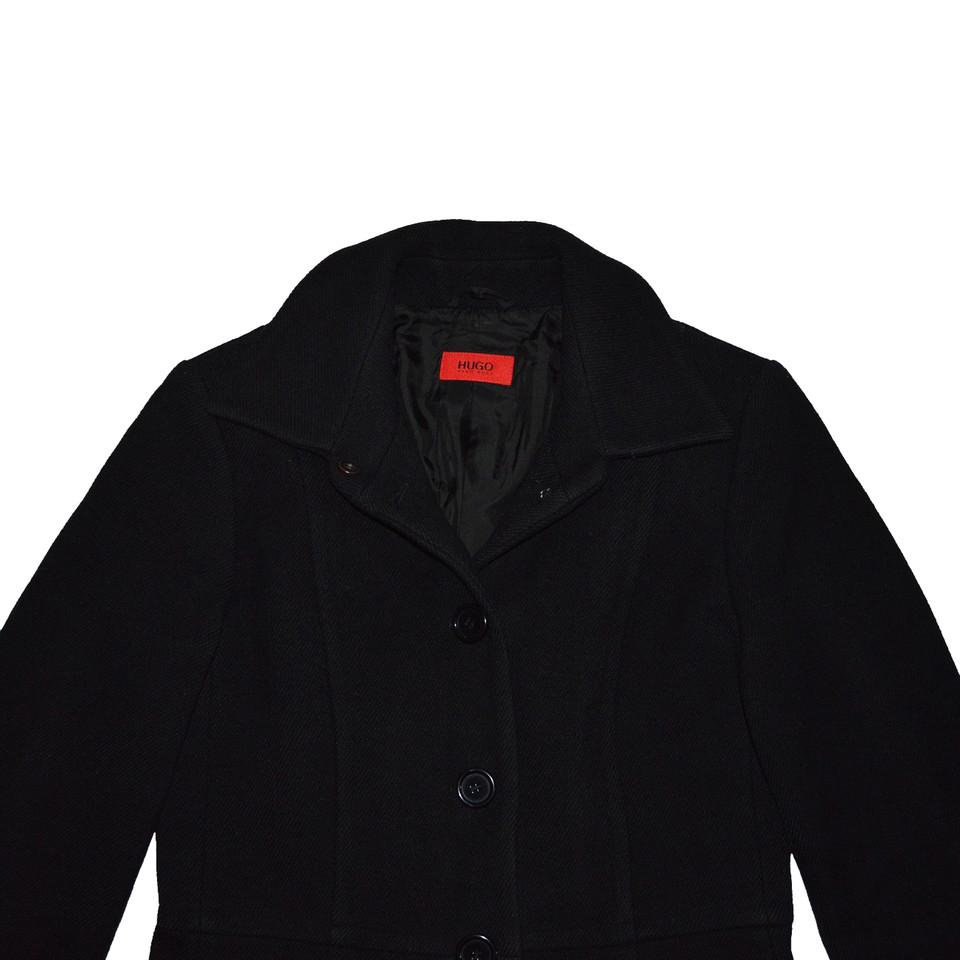 Hugo Boss Black Wool Coat - Buy Second hand Hugo Boss Black Wool ...