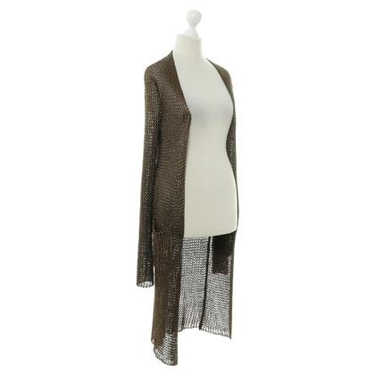 Hermès Cardigan in colore bronzo