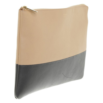 Céline clutch in beige / black