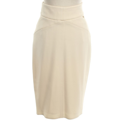 Elisabetta Franchi Eleganter Rock in Creme
