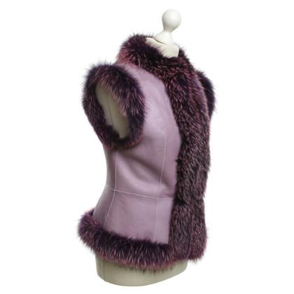 Escada Violet skin coat