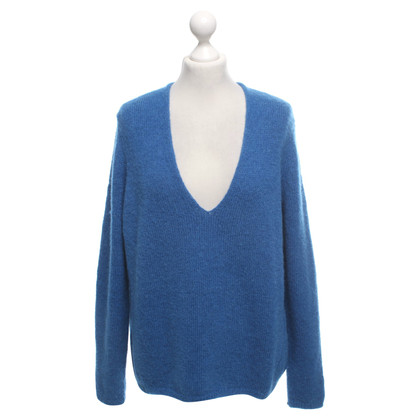 Closed Strickpullover in Blau
