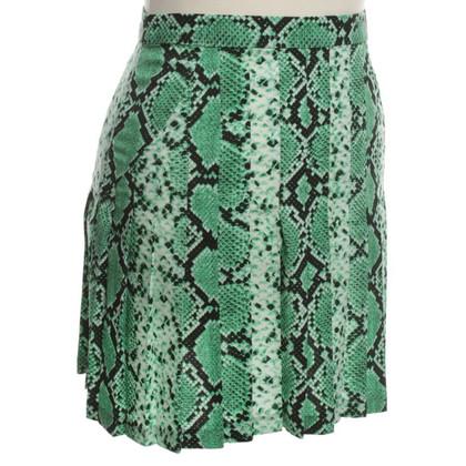 Sandro Green skirt with snake pattern