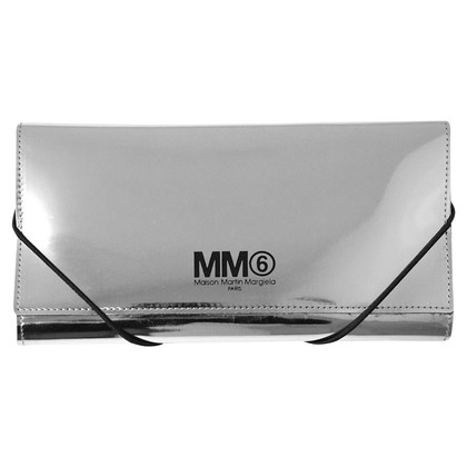MM6 by Maison Margiela portefeuille de couleur argent