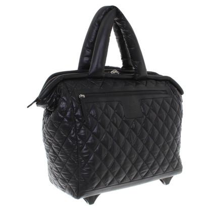 Chanel Rotolamento valigia in nero