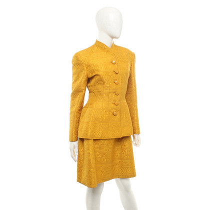 Valentino Dress and jacket in mustard yellow