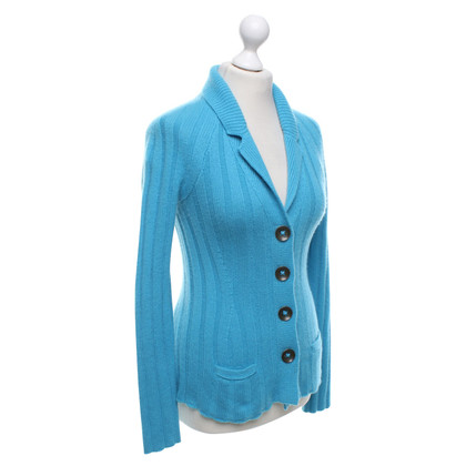 Iris von Arnim Kaschmir-Strickjacke in Türkisblau