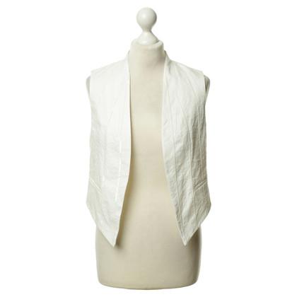 Brunello Cucinelli White vest with sequin