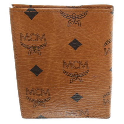 MCM Document case with logo pattern