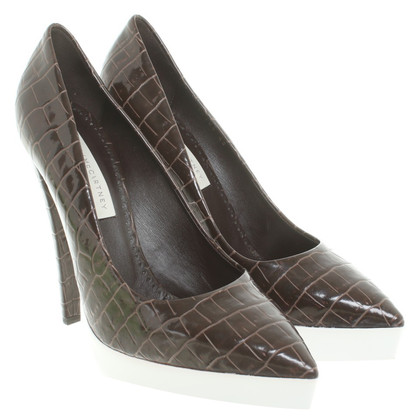 Stella McCartney pumps in crocodile look