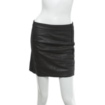 Maje Mini skirt with leather trim