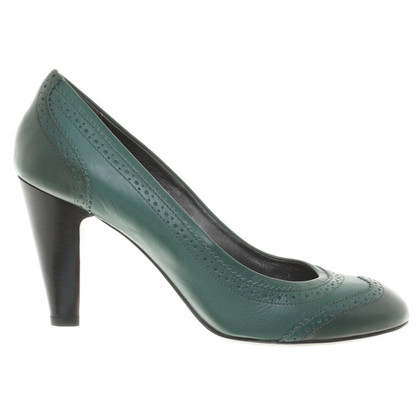 Navyboot pumps in verde scuro