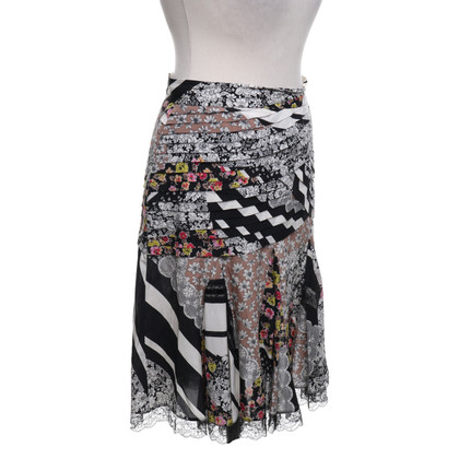 Blumarine skirt with pattern mix