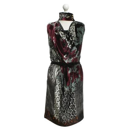 Etro Fluwelen jurk met patronen