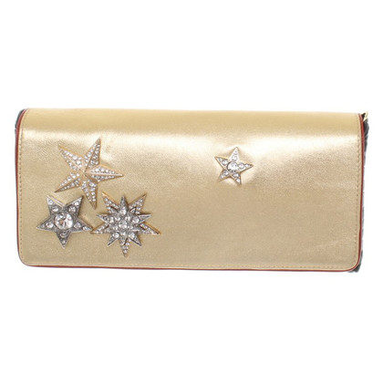 Dries van Noten Clutch mit Schmuckstein-Applikationen