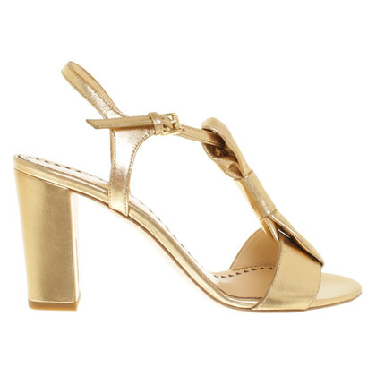 Moschino Cheap and Chic Goldfarbene Sandaletten