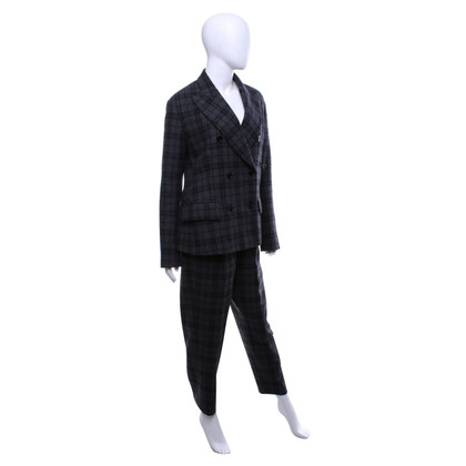 Golden Goose Checked suit in shades of gray