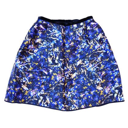 Erdem 100% silk floral print skirt