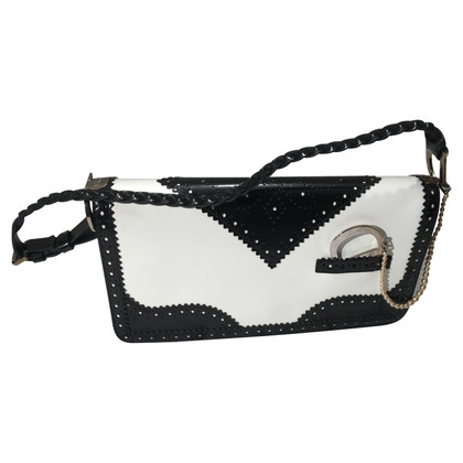 Christian Dior Black white leather bag