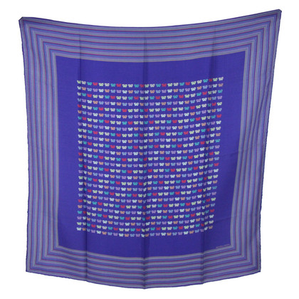 Bottega Veneta Blue Silk Scarf