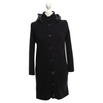 Duvetica Knitted coat with hood