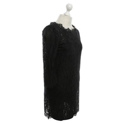 Joie Zwarte jurk met kant