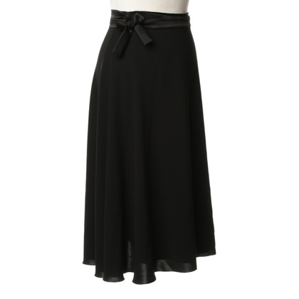 Max Mara Wrap skirt in black
