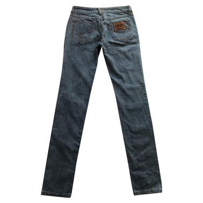 D&G Jeans di cotone sottile délavé