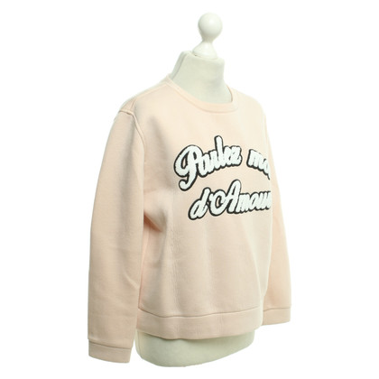 Maje Sweat-shirt de couleur nude