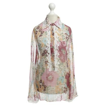 Ermanno Scervino Bluse mit floralem Muster