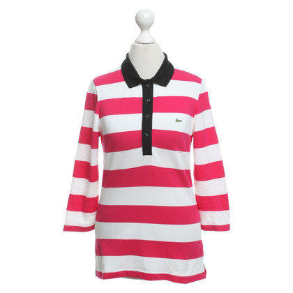 Lacoste top with stripe pattern