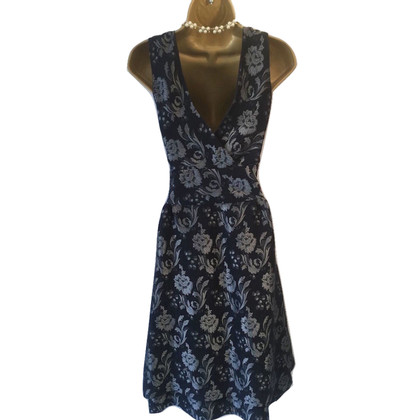 Moschino Cheap and Chic Vestito da Jacquard Navy e Argento