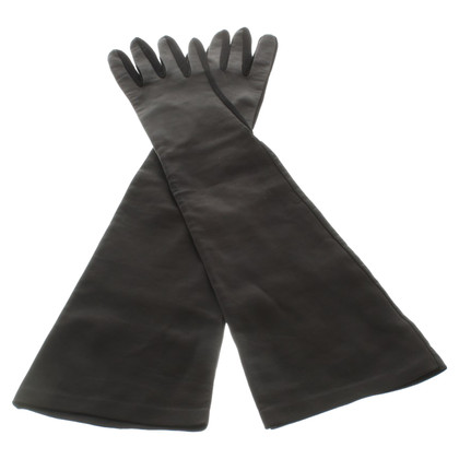 Sport Max Long leather gloves