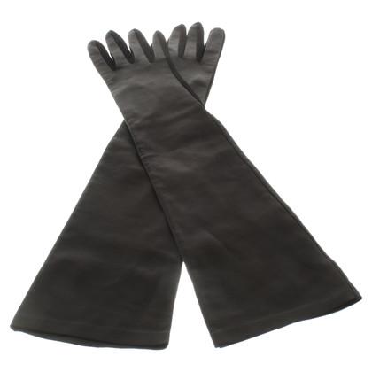 Sport Max Lange leren handschoenen