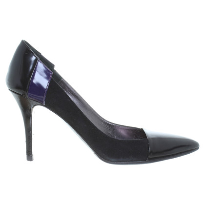 Hugo Boss Lederen pumps in zwart / violet