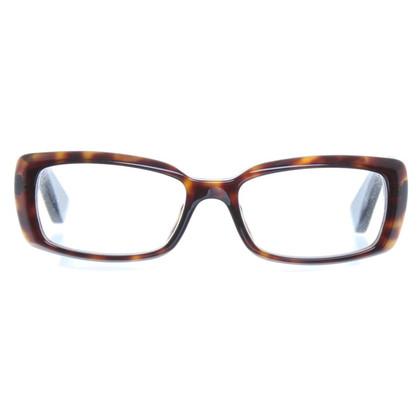 Armani Schmale Brille mit Muster