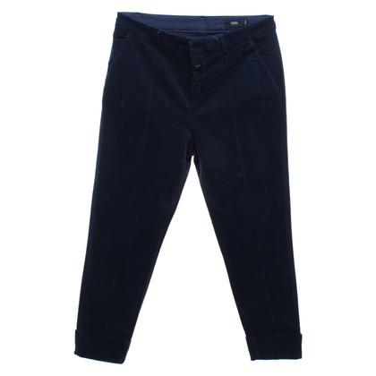 Closed Pantaloni di velluto blu