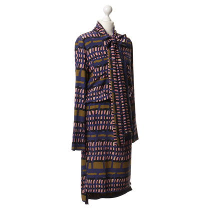 Marni Patterned silk dress