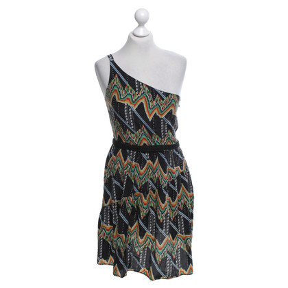Cynthia Vincent  One-shoulder dress with pattern