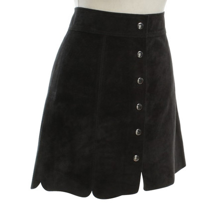 Isabel Marant Wild leather skirt in black
