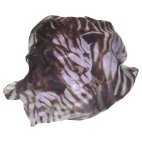 Salvatore Ferragamo Tiger-print silk scarf