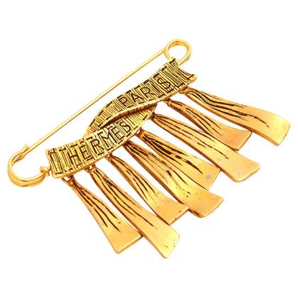 Hermès Gold colored vintage brooch