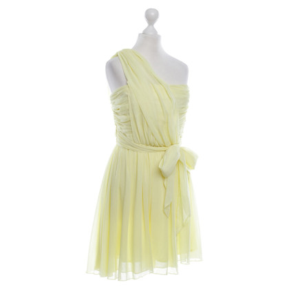 Topshop bandeau dress in Yellow