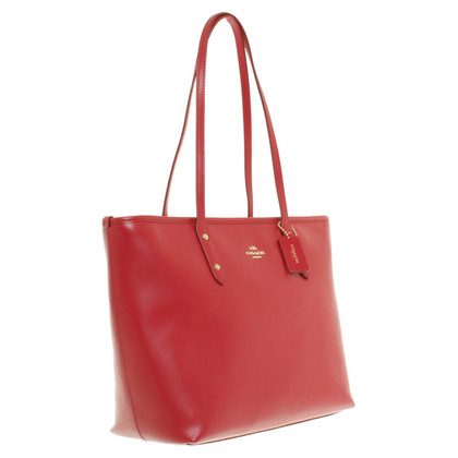 "Coach ""City Zip"" Tote in Rot"