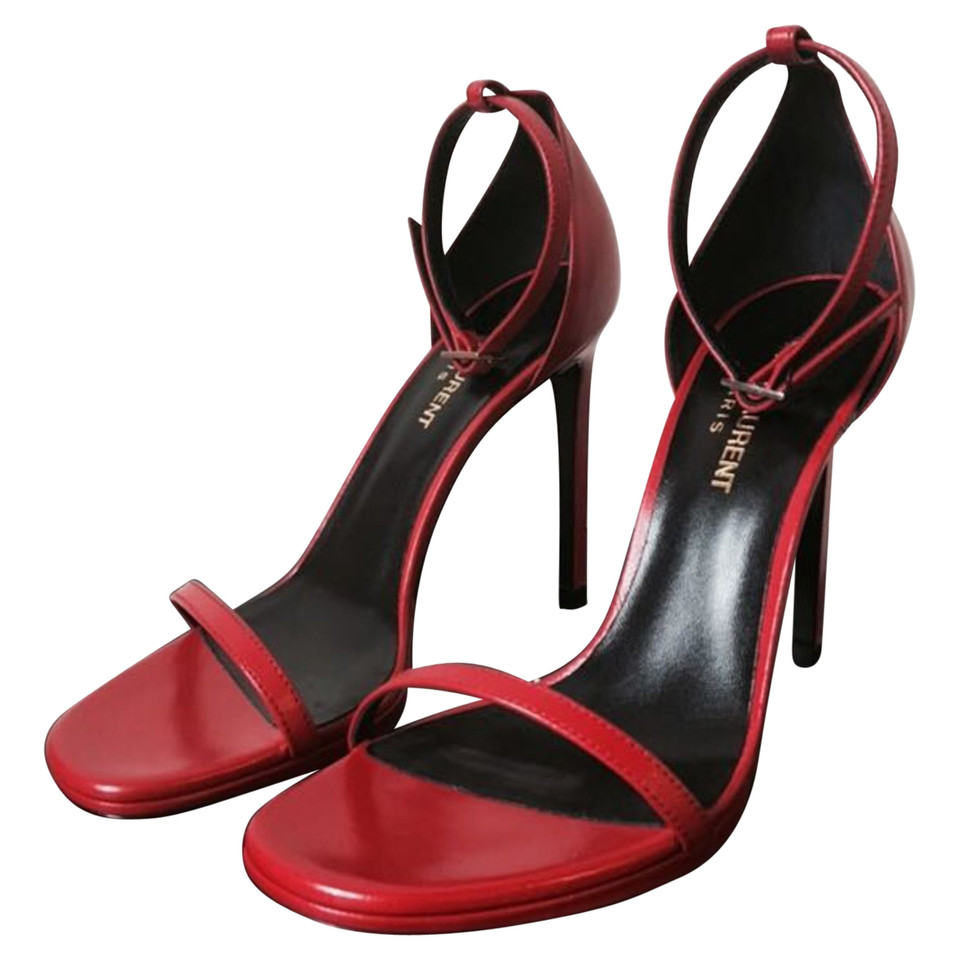 Saint Laurent Jane leather red sandals