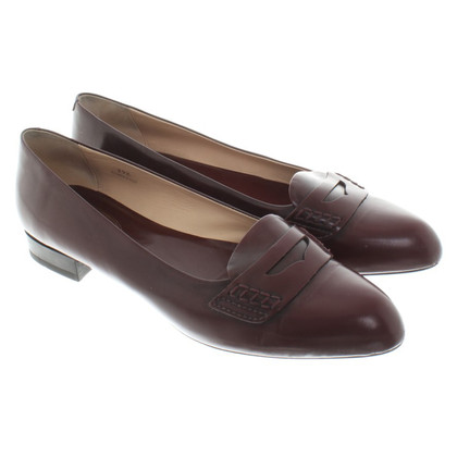 Tod's Burgundy slippers